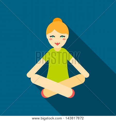 Yoga icon of vector illustration for web and mobile design