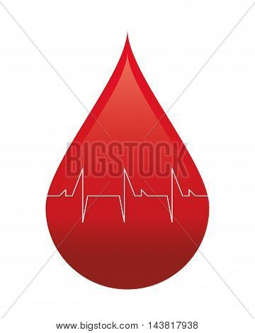 drop blood donation medical health care icon. Flat and Isolated design. Vector illustration