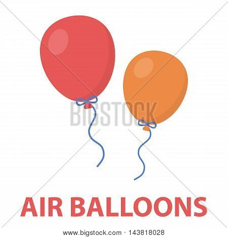 Balloon cartoon icon. Illustration for web and mobile.