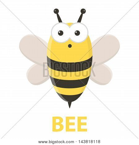 Bee cartoon icon. Illustration for web and mobile.
