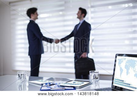 Business Agreement in Office Working Businessman Conceptual