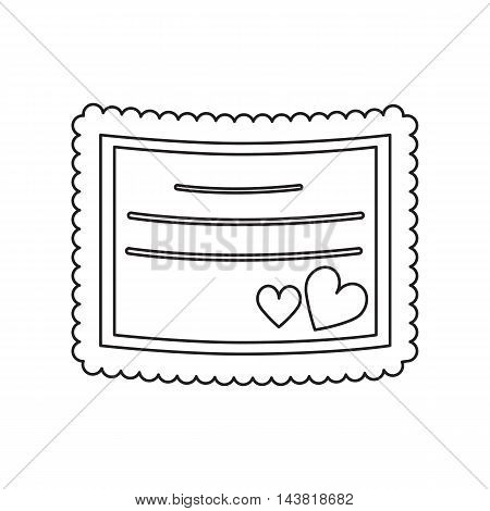 Wedding card icon of vector illustration for web and mobile design