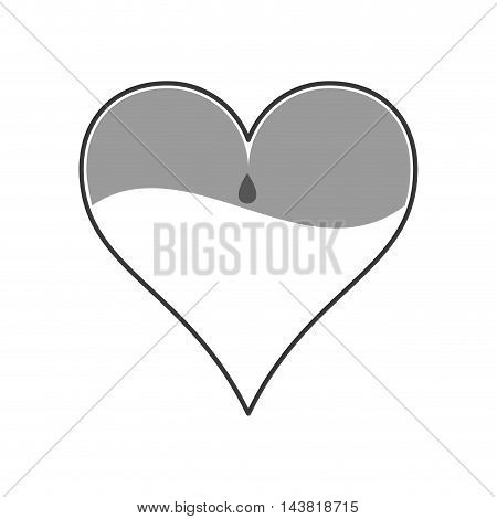 heart blood donation medical health care icon. Flat and Isolated design. Vector illustration