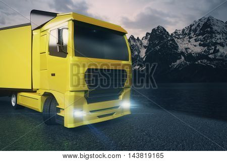 Yellow Truck Closeup