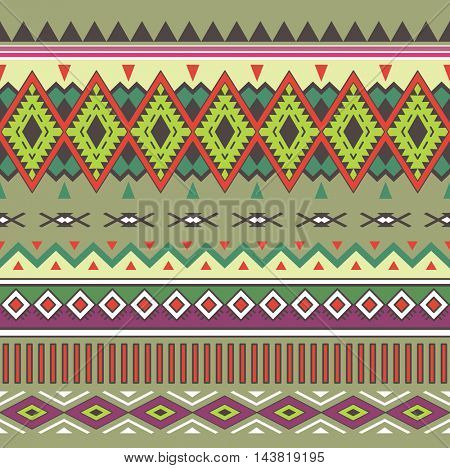 Tribal Boho Seamless Pattern. Ethnic Geometric Ornament. Aztec print. Boho Pattern. Texture for Fabric, Wallpaper and Wrapping. Fashion Indian Pattern.