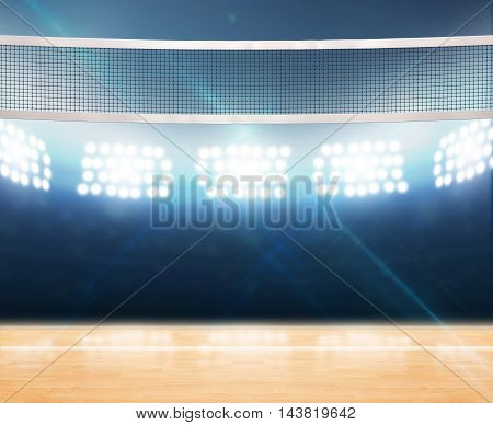 Indoor Floodlit Volleyball Court