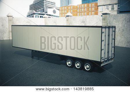 Empty Semi-trailer