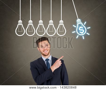 Finance Businessman Bright Idea Working Business Concept