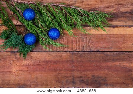 Sprig Arborvitae On The Boards