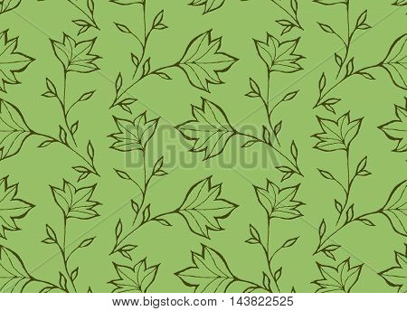 Green Pointy Leaves