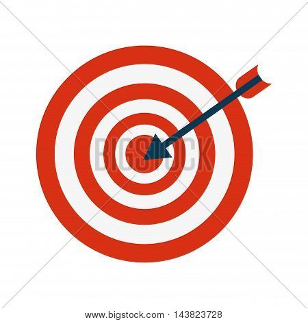 arrow target circle solution feather sport hobby icon. Flat and isolated design. Vector illustration