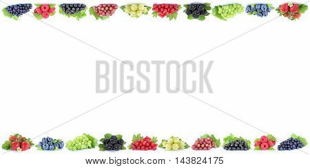 Berries Strawberries Grapes Blueberries Berry Fruits Copyspace Copy Space