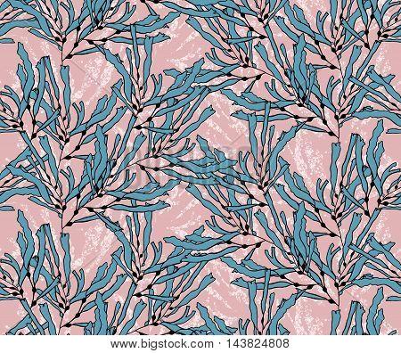 Kelp Seaweed Blue On Texture