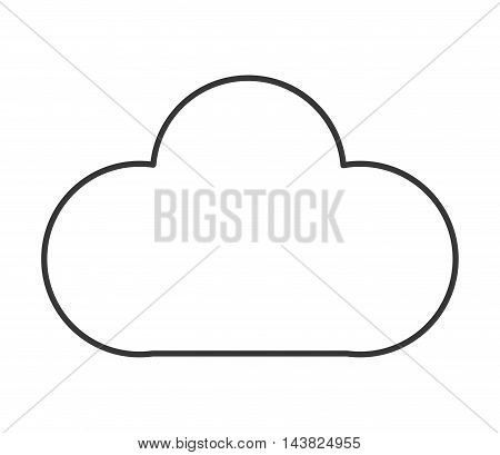 cloud shape weather sky climate icon. Flat and isolated design. Vector illustration