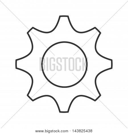 gear cog machine part circle icon. Flat and isolated design. Vector illustration