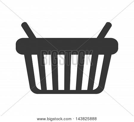 shopping basket market store commerce icon. Flat and isolated design. Vector illustration