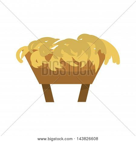 manger crdle straw jesus humble , Isoalted vector illustration