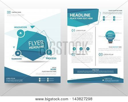 Blue polygon vector Brochure Leaflet Flyer template design book cover layout design abstract business presentation template a4 size design