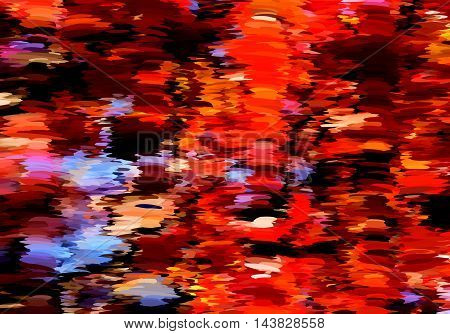 Abstract Oil Painted Fall Leaves