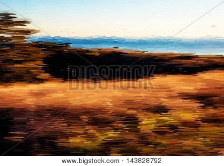 Abstract Oil Painted Landscape
