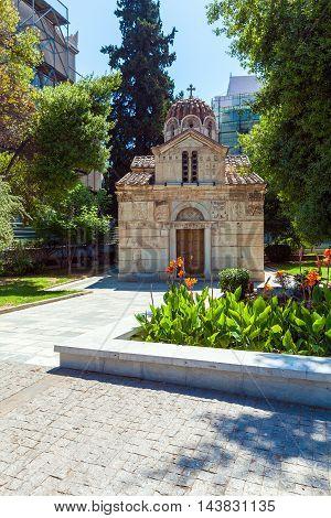 Orthodox church near Monastiraki in Athens Greece
