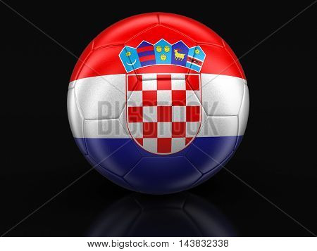 3D Illustration. Soccer football with Croatian flag. Image with clipping path