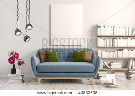 3d render of beautiful clean interior