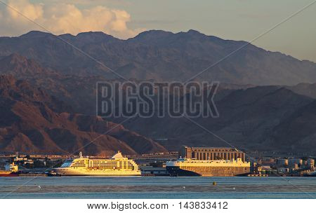 Marine commercial port of Jordan is located at the gulf of Aqaba