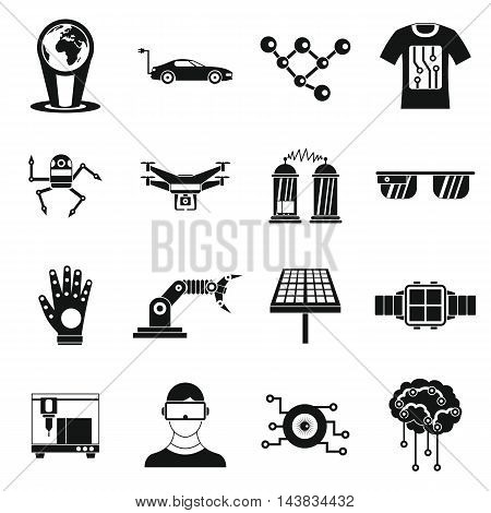 New technologies icons set in simple style. Innovative app and gadget set collection vector illustration