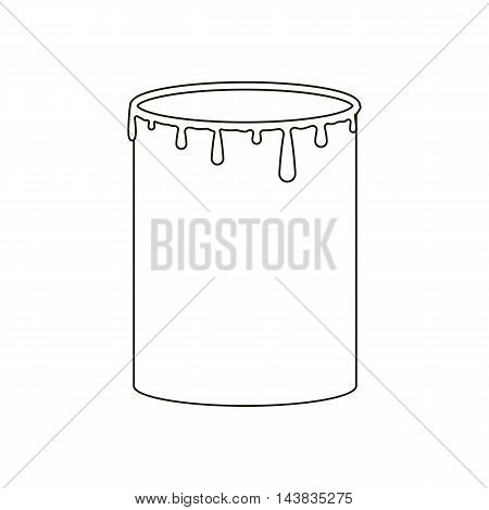 Paint can illustration on the white background. Vector illustration