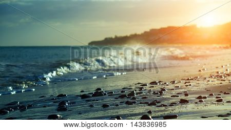 sunset in seascape