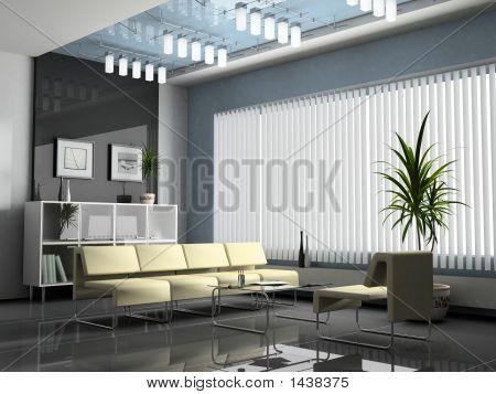 innere Büro für Verhandlungen 3D-Rendering