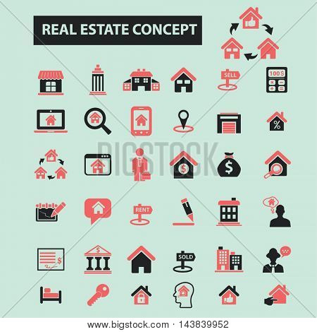 real estate concept icons