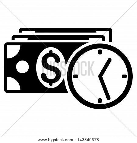 Credit icon. Vector style is flat iconic symbol with rounded angles, black color, white background.