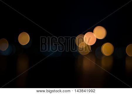 Abstract Urban Night Light Bokeh, Defocused Background
