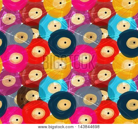 Rough Brush Colorful Vinyl Discs