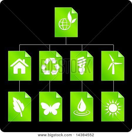 Environmental Paper Diagram Original Vector Illustration
