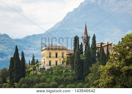 Cityscape of Varenna at Lake Como Italy