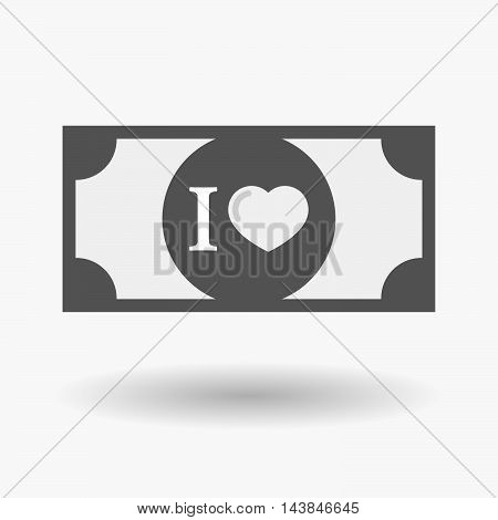 Isolated  Bank Note Icon With  An