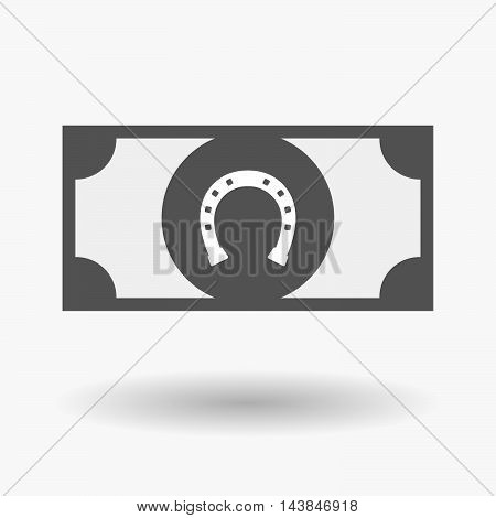 Isolated  Bank Note Icon With  A Horseshoe Sign