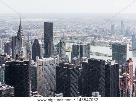 New York Cityscape Birds Eye View