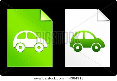 Car on Paper Set Original Vector Illustration AI 8 Compatible File
