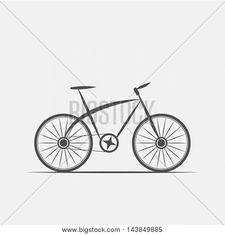 a bike in grayscale style - vector illustration