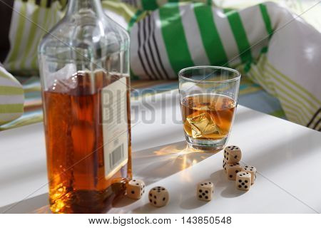 Whisky and dice