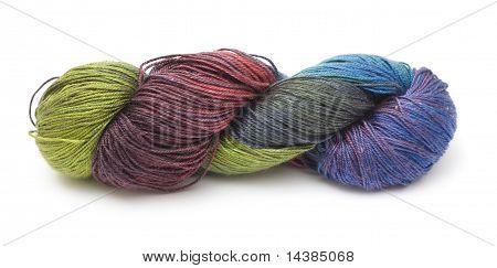 beautiful hand-dyed thin knitting yarn