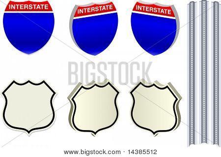 Carretera signos Original Vector ilustración imagen Simple ilustración