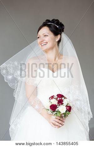 Laughing Joyful Bride Portrait
