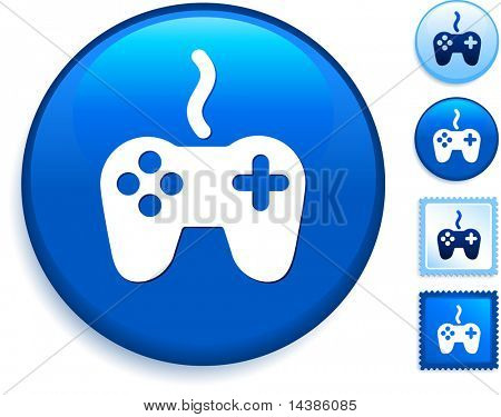 Game Controller Icon on Internet Button Original Vector Illustration