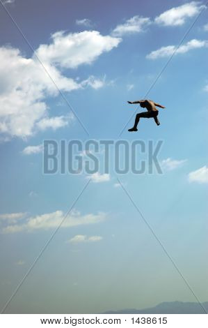 Flying Jumping Man