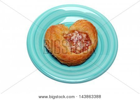 Breakfast Pastry isolated on white.